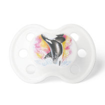 Beautiful Orca Whale Breaching Pacifier
