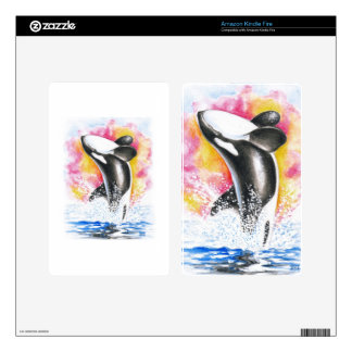 Beautiful Orca Whale Breaching Skin For Kindle Fire