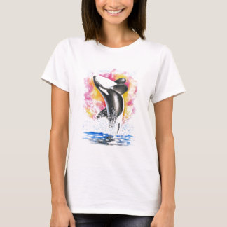 Beautiful Orca Whale Breaching T-Shirt