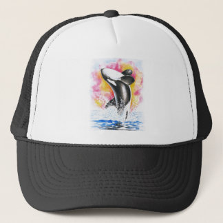 Beautiful Orca Whale Breaching Trucker Hat