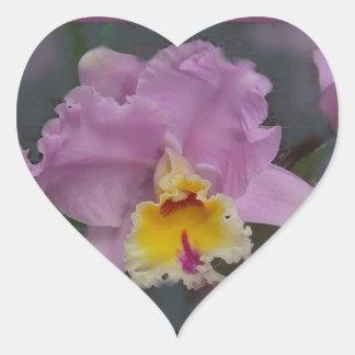 Beautiful Orchid Heart Sticker