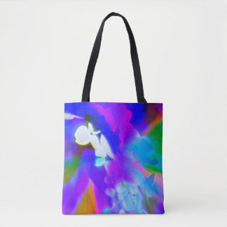 Beautiful orchid tote in bright colours