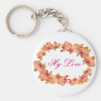Beautiful orchids keychain