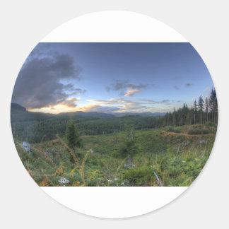 Beautiful Oregon Sunset Classic Round Sticker