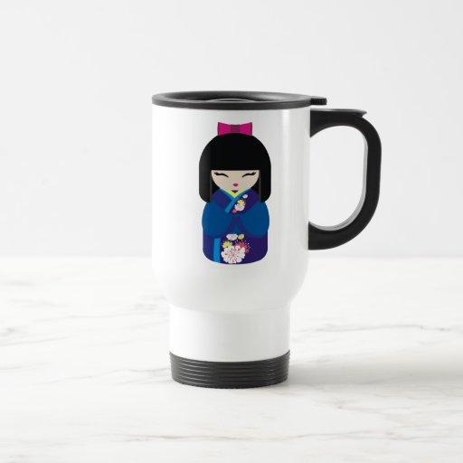 Beautiful Oriental Chinese Japanese Doll Mug