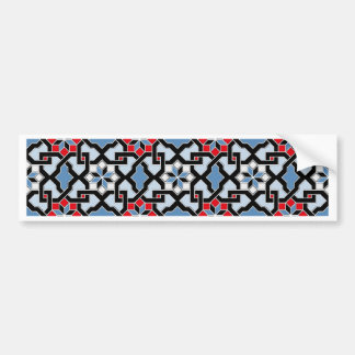 Beautiful oriental flower pattern 4 bumper sticker