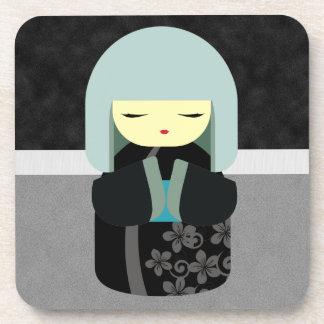 Beautiful Oriental Kokeshi Doll Coaster