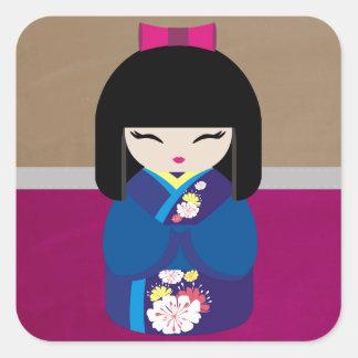 Beautiful Oriental Kokeshi Doll Sticker