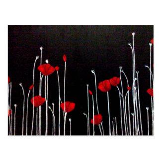 """Beautiful original artwork.  """"Red Poppies"""" Postcard"""