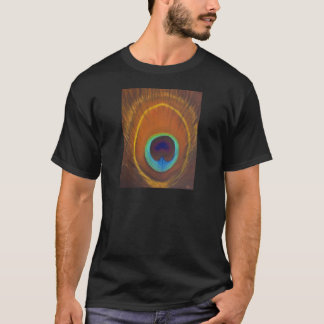 Beautiful original peacock feather hand painted T-Shirt