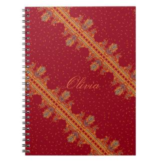 Beautiful ornate border paisley traditional style notebook