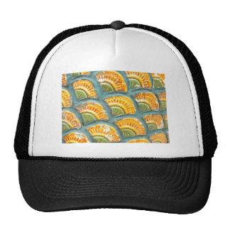 Beautiful ornate tiled pattern trucker hat