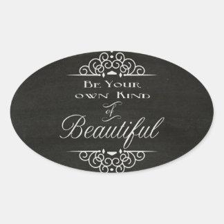 Beautiful Oval Sticker