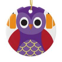Beautiful Owl Ceramic Ornament