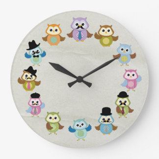 Beautiful Owl Wall Clock