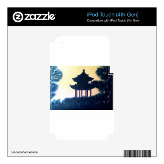 Beautiful Pagoda Silhouette Art Scenery Landscape iPod Touch 4G Skin