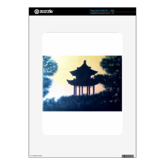 Beautiful Pagoda Silhouette Art Scenery Landscape Skins For iPad
