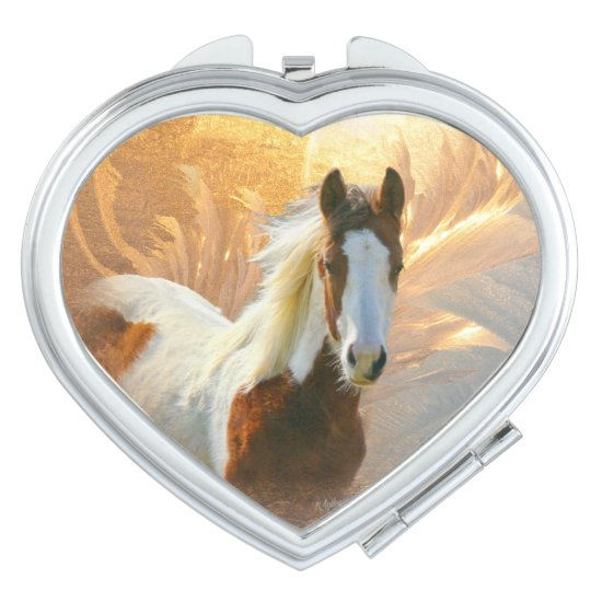 Beautiful Paint Horse Compact Mirror