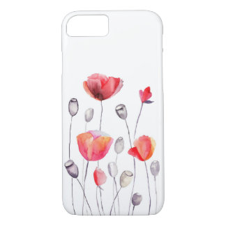 Beautiful Painted Flowers Girly iPhone 7 Case
