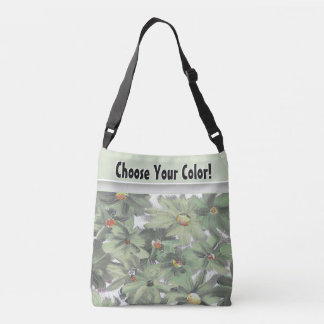 Beautiful Painted Flowers in Your Favorite Color Crossbody Bag