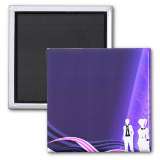 Beautiful pair dressed in black and white fridge magnets