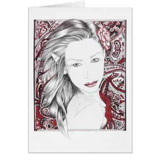 Beautiful Paisley Female Elf Card
