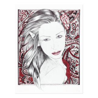 Beautiful Paisley Female Elf Postcard