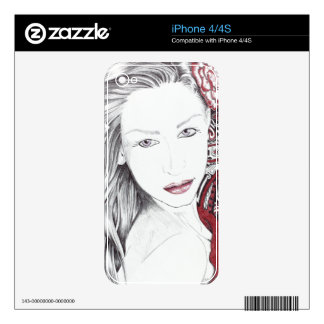 Beautiful Paisley Female Elf Skin For iPhone 4S