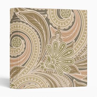 Beautiful paisley pattern 3 ring binder