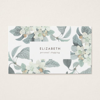 Beautiful Pale Blue Flowers Business Card
