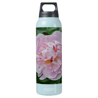 Beautiful Pale Pink Peony Flower - Floral Garden Insulated Water Bottle