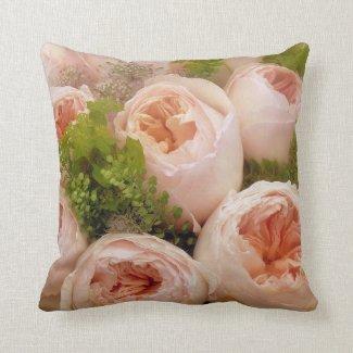 Beautiful Pale Pink Roses Throw Pillow
