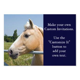 Beautiful Palomino Horse 5x7 Paper Invitation Card