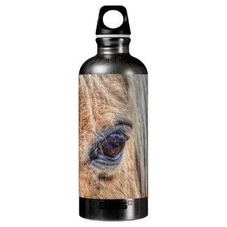 Beautiful Palomino Paint Horse's Eye Equine Photo Water Bottle