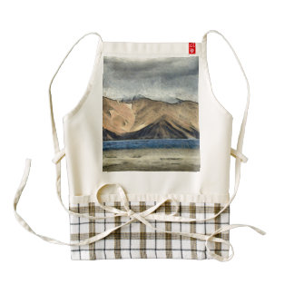 Beautiful pangong Tso lake in himalayas Zazzle HEART Apron