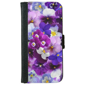 Beautiful Pansies Flowers iPhone 6/6s Wallet Case