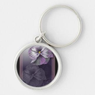 Beautiful Pansies Keychain