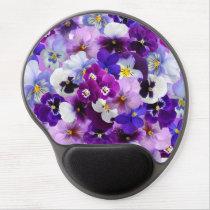Beautiful Pansies Spring Flowers Gel Mousepad