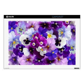 Beautiful Pansies Spring Flowers Laptop Skin