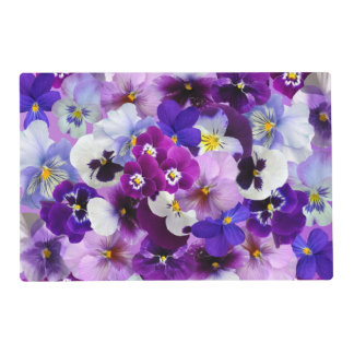 Beautiful Pansies Spring Flowers Placemat