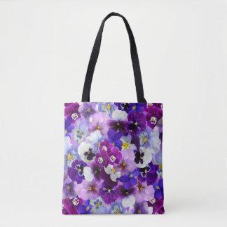 Beautiful Pansies Spring Flowers Tote Bag