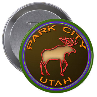 Beautiful Park City Moose Medallion Gear Buttons