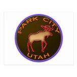 Beautiful Park City Moose Medallion Gear Post Cards