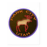 Beautiful Park City Moose Medallion Gear Postcards