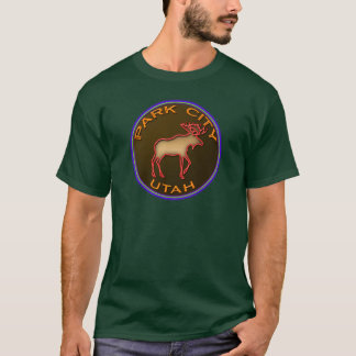 Beautiful Park City Moose Medallion Gear T-Shirt
