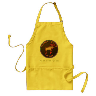 Beautiful Park City Moose Medallion Souvenir Apron