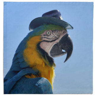 Beautiful Parrot Wearing a Hat Cloth Napkin