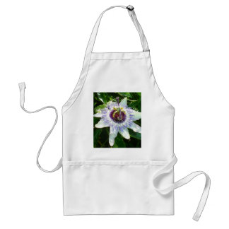 Beautiful Passion Flower With Garden Background Adult Apron