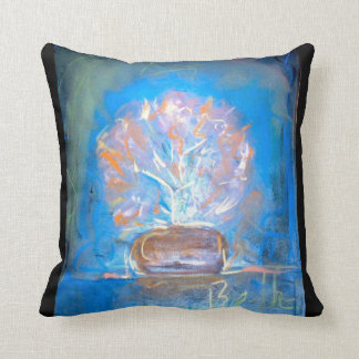 Beautiful pastel abstract design of flower on item pillows