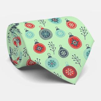 Beautiful Pastel Christmas Hanging Balls and Pine Neck Tie